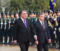 Dushanbe hosted top-level talks between President of Tajikistan Emomali Rahmon and President of Uzbekistan Shavkat Mirziyoyev.