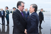Warm welcome to President of the Republic of Uzbekistan Shavkat Mirziyoyev in Tajikistan