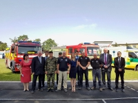 Delivery of the UK humanitarian convoy of the live-saving vehicles and rescue equipment to Tajikistan