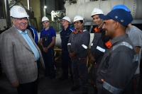 Acquaintance with the progress  of construction works at the Rogun Hydro Power Plant